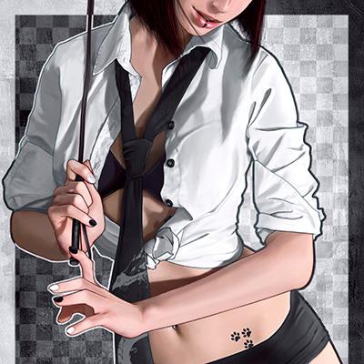 Ilustracion White & Black de Ana del Valle