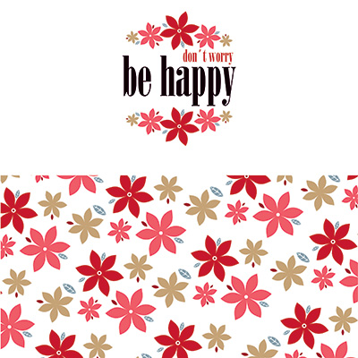 Ilustracion Be Happy de Clara Lopez
