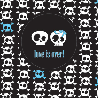 Ilustracion Love is over de Clara Lopez