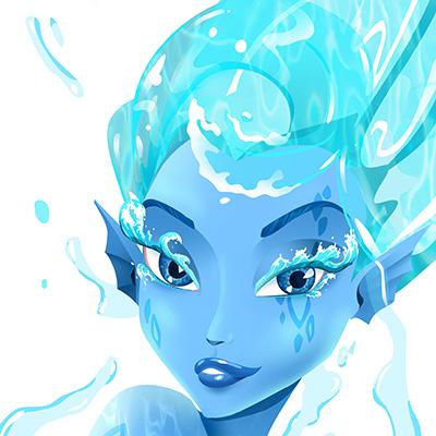 Ilustracion Agua de Davide Ortu