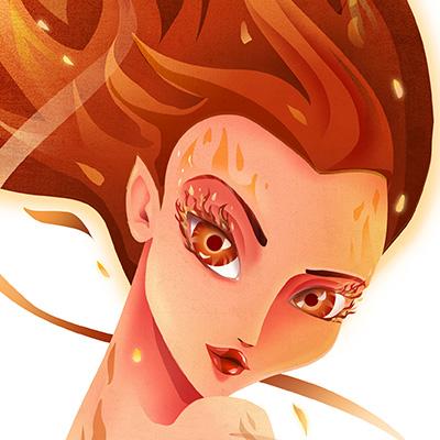 Ilustracion Fuego de Davide Ortu