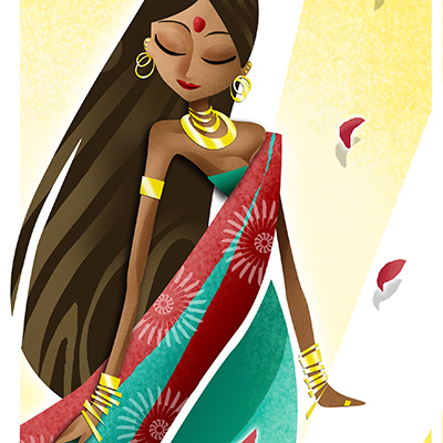 Ilustracion India de Davide Ortu