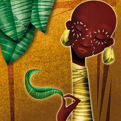 Ilustracion Masaai de Davide Ortu