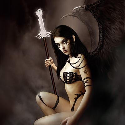 Ilustracion Brown Angel de Jose del Nido