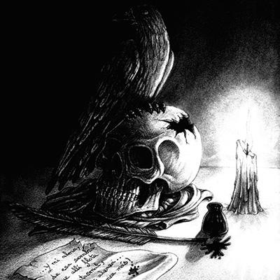 Ilustracion El cuervo de Miguel Jimenez