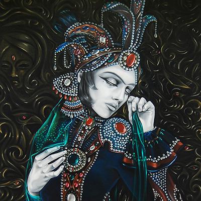 Ilustracion Mujer Persa de Davide Ortu