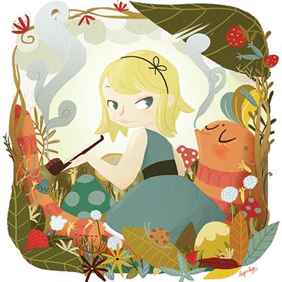 Ilustracion Alice de Nuria Aparicio