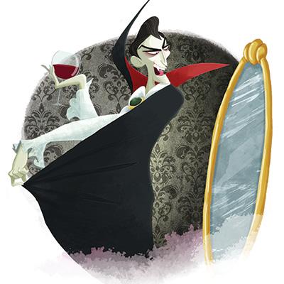 Ilustracion Dracula de Nuria Aparicio