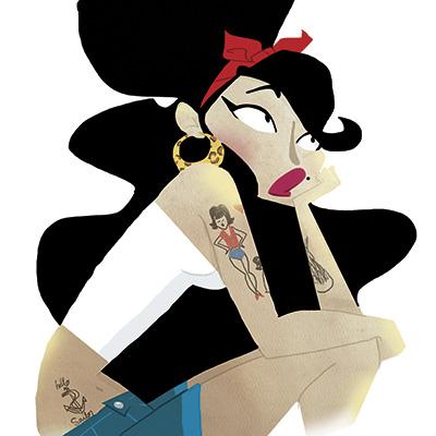 Ilustracion PinUp de Nuria Aparicio