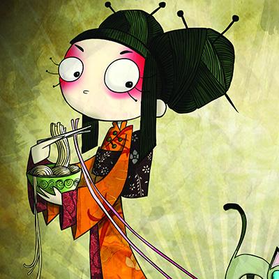 Ilustracion Princesa de Asia de Nuria Aparicio