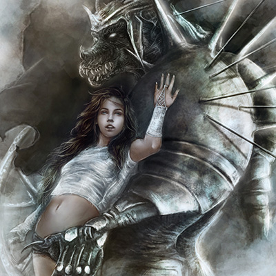 Ilustracion Morrigan de Yuly Alejo