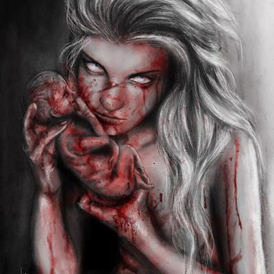 Ilustracion The Birth de Yuly Alejo