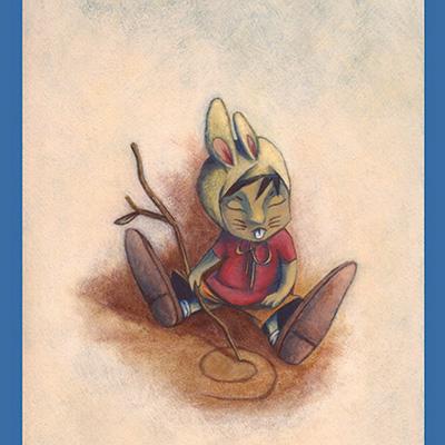 Ilustracion Niño Conejo de Guiomar Gonzalez