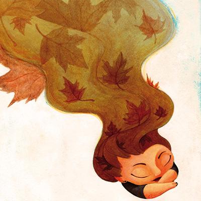 Ilustracion Sueño de otoño de Guiomar Gonzalez