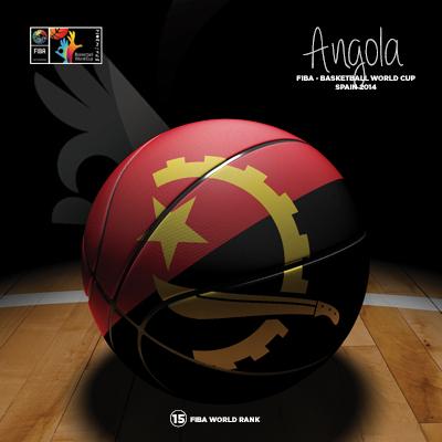 Ilustracion Angola Basketball de Moby Ink