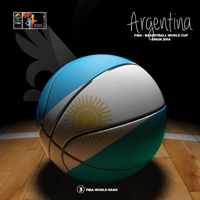 Ilustracion Argentina Basketball de Moby Ink