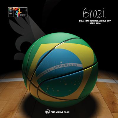 Ilustracion Brazil Basketball de Moby Ink