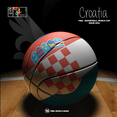 Ilustracion Croatia Basketball de Moby Ink