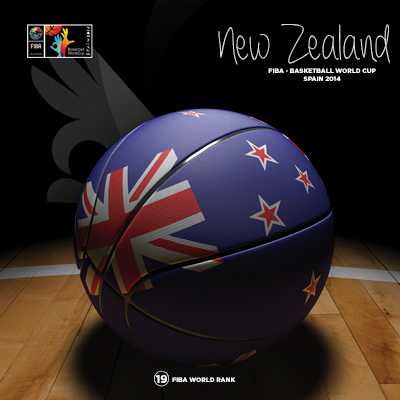 Ilustracion New Zealand Basketball de Moby Ink