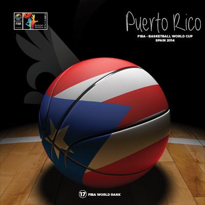 Ilustracion Puerto Rico Basketball de Moby Ink