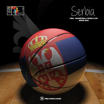 Ilustracion Serbia Basketball de Moby Ink