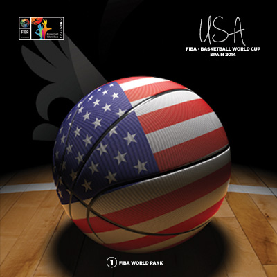 Ilustracion USA Basketball de Moby Ink