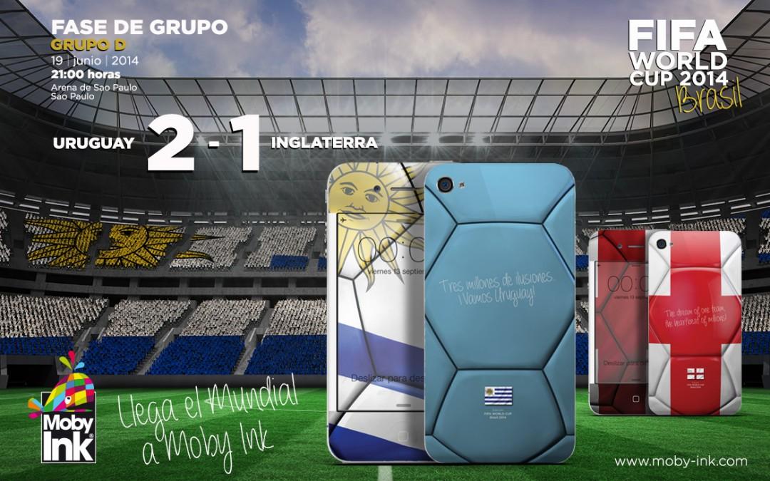 Suárez revive a Uruguay y hunde a Inglaterra