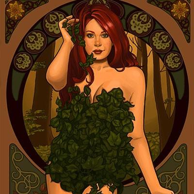 Ilustracion Poison Ivy de Sara Vallecillos